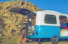 Kultig und flexibel: Der Happier Camper HC 1 geht auch als Transporhänger durch. (Foto: Werk)