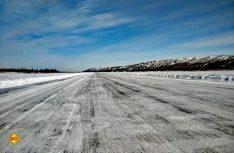 Tückisch und gefährlich – Die alte Ice-Road von Inuvik nach Tuktoyaktuk. (Foto: Faszination Kanada)