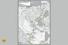 Streckenverlauf des Mackenzie-Valley Highway – Knapp 200 Kilometer durch die Einsamkeit. (Grafik: Faszination Kanada)