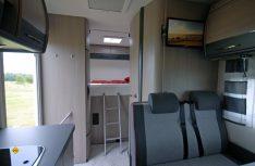 Kinderfreundlich: Der Hobby Siesta de Luxe A65 GM mit Stockbetten im Heck. (Foto: det)