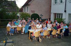 Dastraditionelle Abendessen aller Teilnehmer im Café Regebogen in Nürtingen: (Foto: Stadt Nürtingen)