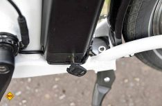 Mit einem Schlüsselschalter ist der Akku gegen Diebstahl geschützt. (Foto: det)