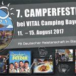 Siebentes Camperfestival Vitalcamping Bayerbach in Bad Birnbach