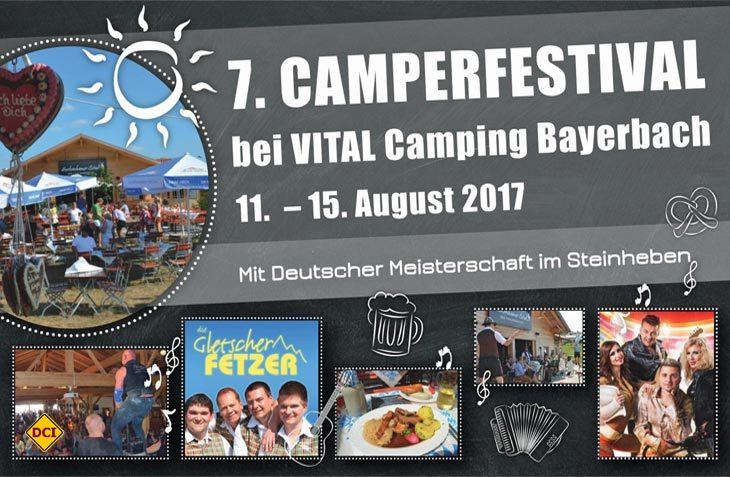 Zum siebten Mal findet auf dem Vital Camping Bayerbach in Bad Birnbach das Camperfestival mit tollem Programm statt. (Foto: Vital Camping Bayerbach)