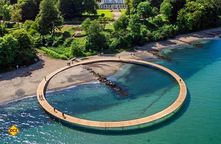 """Mit der """"Unendlichen Brücke"""" bekommt das dänische Aarhus als amtierende Europäische Kulturhauptstadt eine neue Kultur-Attraktion. (Foto: Visitdenmark)"""