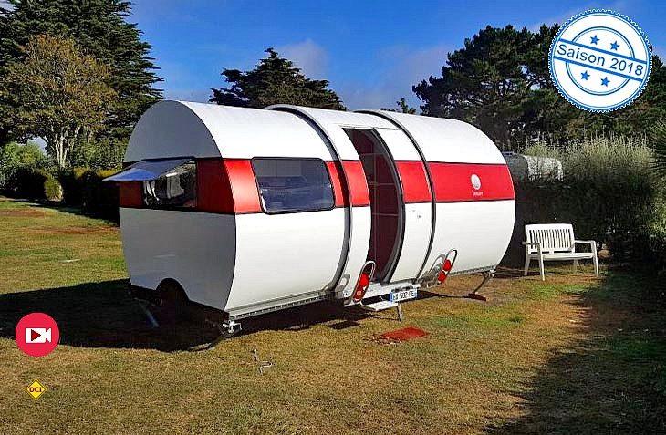 Geniale Idee: Ein schmaler Touren Caravan wird auf dem Campingplatz zum Komfort-Wagen: Der Beauer 3X Teleskop-Caravan. (Foto: Werk)