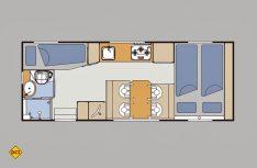 Der Grundriss des Bimobil EX 420. (Grafik: Werk)