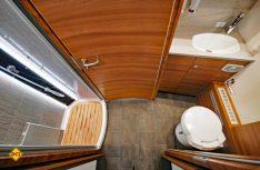Badkomfort wie zu Hause: Das Raumbad des Globetrotters XXL-I mit separatem Duschraum. (Foto: det)