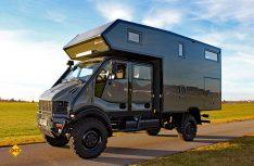 T-Rex in Tarnfarbe: Der Exploryx Impala ist als Fernreisemobil hoch geländegängig und hat einen bärenstarken Motor. (Foto: Werk)
