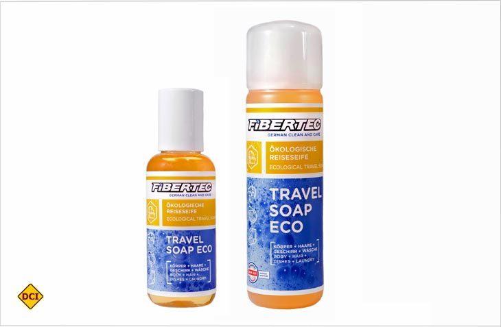 Die Travel Soap Eco von Fibertec spart Platz und Gewicht und ist universal im Urlaub einsetzbar. (Foto: Werk)
