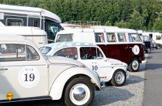 Erfolgreiche Premiere: Zur ersten Hymer Historic Rallye im Bad Waldsee kamen viele Oldtimer nach Oberschwaben. (Foto: Hymer)
