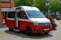Der erste Camper-Van der neuen Gattung CUV bei Knaus: Der markante Boxdrive auf VW Crafter kommt zum Caravan Salon. (Foto: alf)