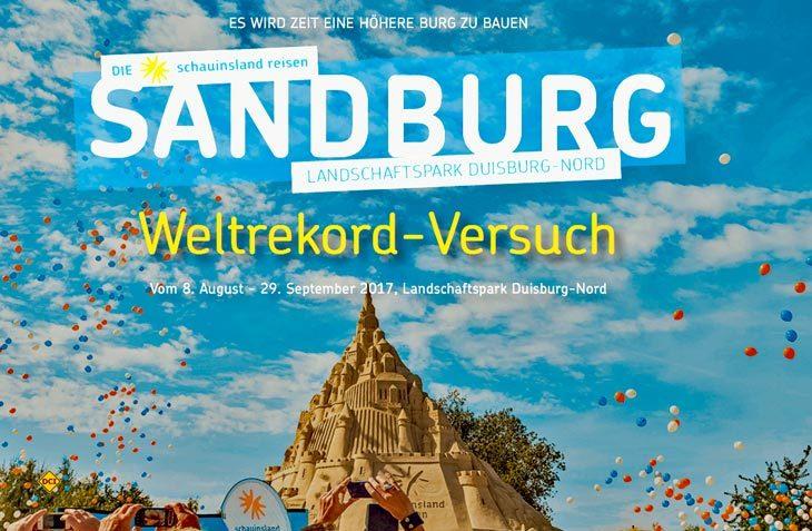 Internationale Künstler wollen bis zum 1. September in Duisburg die höchste Sanburg der Welt bauen. (Foto: Diesandburg)