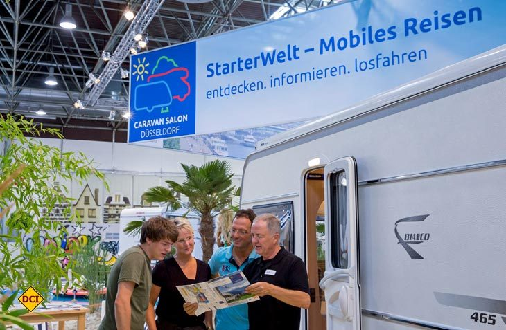 Die StarterWelt hilft herstellerneutral allen Neueinsteigern sich umfassend zum Thema Caravaning zu auf dem Caravan Salon zu informieren. (Foto: Caravan Salon)
