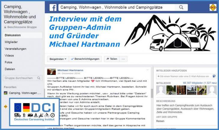 Die aktuell größte Facebook-Gruppe im Bereich Womo, WW und Co. wurde von Michael Hartmann 2013 gegründet (Foto: screenshot /tom)