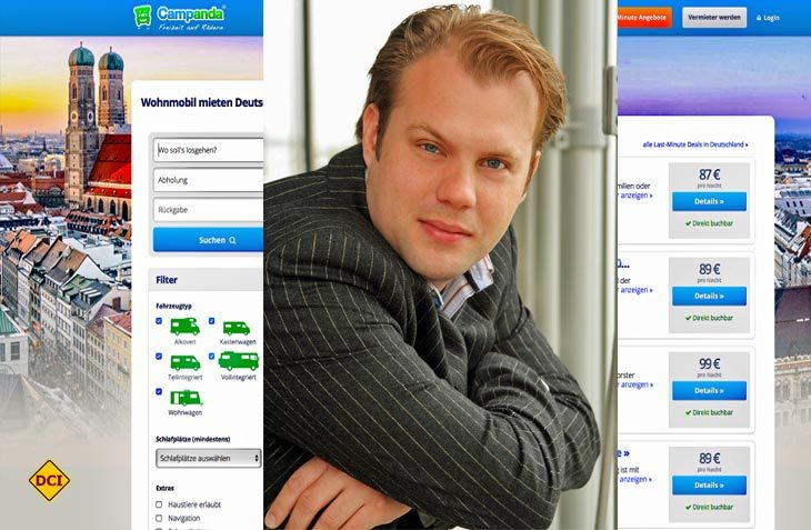 Chris Möller ist Gründer und Geschäftsführer des Online-Marktplatzes Campanda für private Reisemobilvermietung. (Foto: Campanda/DCI)