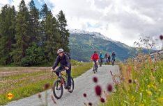 : Ob E-Bike, Rennrad oder Mountainbike- Für Radler ist das Engadin ein Paradies (Foto: CIVD)