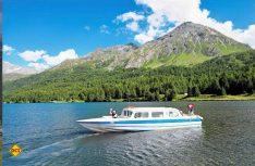 : Sorgt für regelmäßigen Schiffsverkehr – die Kursschiffslinie über den Silser See (Foto: swiss-image.ch / Robert Boesch)
