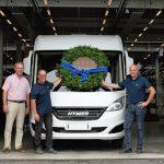 10.000 produzierte Hymer-Fahrzeuge in einem Geschäftsjahr