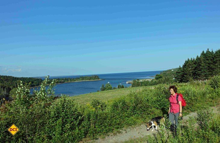 Beim kleinen Fischerort Cooks Cove in Nova Scotia sieht man den Atlantik zum letzten Mal bevor man rund 12.000 Kilometer weiter auf den Pazifik trifft. (Foto: Wöhrstein)