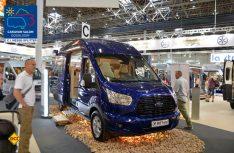 Der vermutlich einzige Ford Transit als 4x4-Version auf dem Caravan Salon 2017: Der Karmann Dexter Trend 560 4x4. (Foto: det)