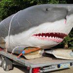 Der Dinosaurierpark Teufelsschlucht präsentiert den größten Hai der Erdgeschichte
