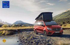 """Mercedes-Benz Vans stellt eine Limited Edition """"Designo hyazinthrot metallic"""" des Marco Polo Horizon vor. (Foto: Mercedes-Benz Vans)"""