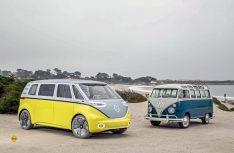 Die im Frühjahr vorgestellte VW-Studie des E-Bullis Buzz soll nun in Serienfertigung gehen. (Foto: Volkswagen)