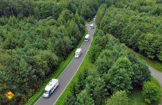Polizei und Feuerwehr hatten die Strecke für den Konvoi abgespertt und gesichert. (Foto: Stadt Walldürn)