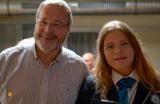 Veranstalter Dieter Goldschmitt mit Paulina Sapinska von Guinness-World Records. (Foto: det)