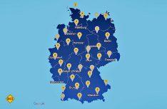 Über 1.800 professionelle Mietstation mit Fachpersonal bieten junge Reisemobile und Wohnwagen deutschlandweit in der Vermietung an. (Grafik: ADAC)