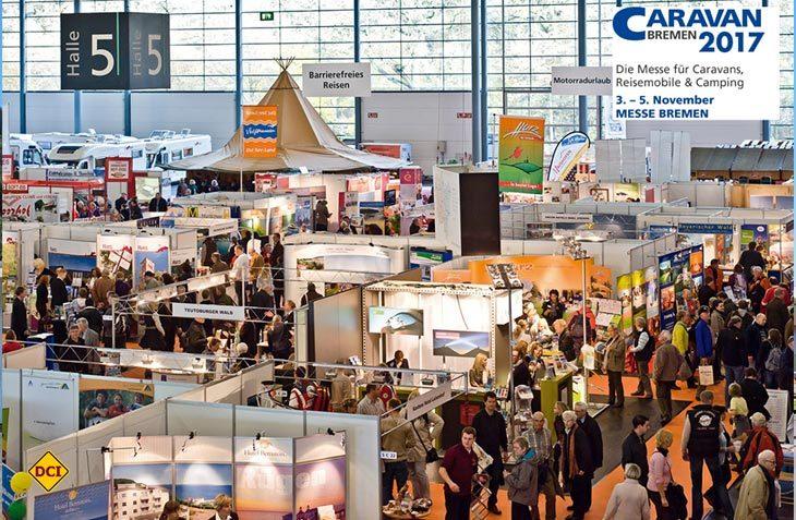 Über 70 Händler und Hersteller mit vielen bekannten Marken sind auf der Messe Caravan Bremen 2017 vertreten. (Foto: Heckmann)