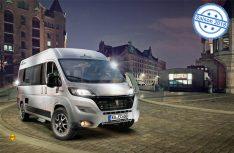 Der Klassiker im VanTourer-Programm von Eurocaravaning: Det kompakte VanTourer 600 mit Heckquerbett. (Foto: Werk)