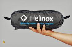 Gepackt kaum größer als eine Trinkflasche: Kleinste Packmaße und geringes Gewicht zeichenn den neuen Chair One von Helinox aus. (Foto: Werk)
