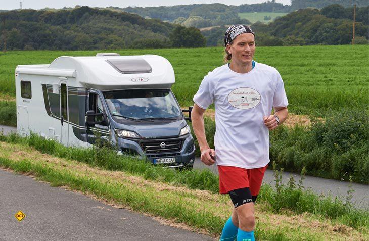 Thorsten Stelter hat einen 450 Kilometer-Spendenlauf Von Düsseldorf nach Leipzig dank großem Sportlerherz und LMC erfolgreich gemeistert. (Foto: LMC/Bernd Thissen)