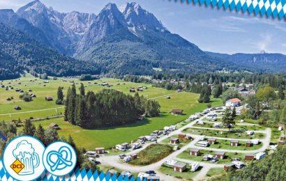 Camping Resort Zugspitze und Camping Erlebnis Zugspitze liegen am Fuße von Deutschlands höchstem Berg und sind ideale Ausgangsbasis für das Oktoberfest. (Foto: Louis Huber)