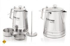 Der Perkomax von Petromax funktioniert nach dem Perkolator-Prinzip ähnlich wie eine Espresso-Kanne. (Foto: Werk)