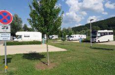 Am Freizeitgebiet Danuterra hat die Donaustadt Geisingen einen großzügigem Reisemobil-Stellplatz für 37 Mobile eingerichtet und ihn mit WiFi ausgestattet. (Foto: Kissling)