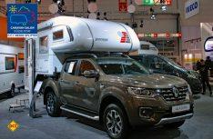 Premiere auf dem Caravan Salon: Mit der Tischer Trail 230 S Wohnkabine wird der neue Renault Alaskan zum Reisemobil. (Foto: det)