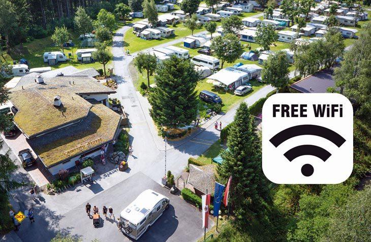 Ob auf dem Campingplatz in der Provence oder an der Atlantikküste – die Mehrheit der Caravaner erwarten heutzutage WiFi an ihrem Urlaubsort. (Foto: Ötztal Camping)