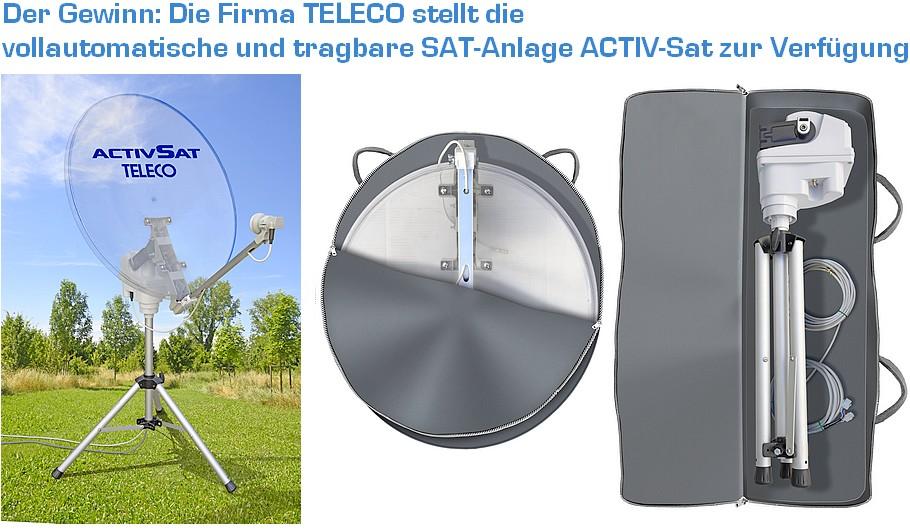 Die Activ SAT von Teleco. Transparenter 65-Zentimeter-Spiegel. Diebstahlschutz durch Codierung. Vollautomatische Senderjustierung. (Foto: Werk)