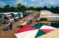 Geselligkeit war beim EMHC schon bei diesem Reisemobiltreffen 1987 in Aachen Trumpf. (Foto: EMHC)