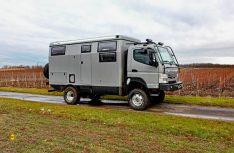 Der EarthCruiser FX ist ein australisches Expeditionsmobil auf dem Chassis des Fuso Canter 4x4. (Foto: egs)