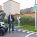Hymer installiert erste E-Ladestation auf seinem Werksgelände
