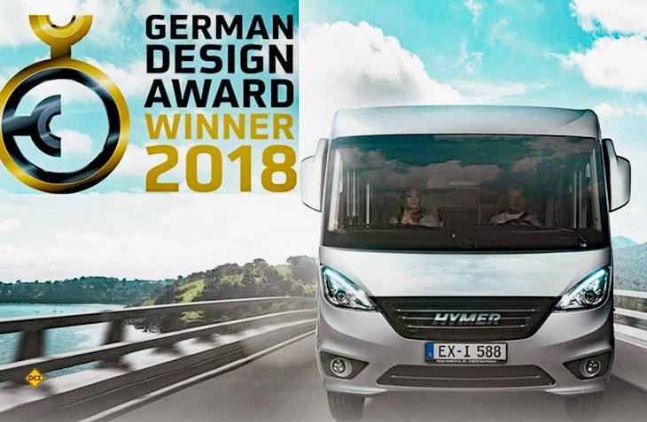 """Der neue Hymer Exsis-i hat den begehrten German Design Award 2018 in der Kategorie """"Excellent Product Design"""" gewonnen. (Foto: Hymer)"""