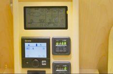 Das Elektro-Panel mit den zentralen Steuerungsfunktionen. (Foto: Klinke)
