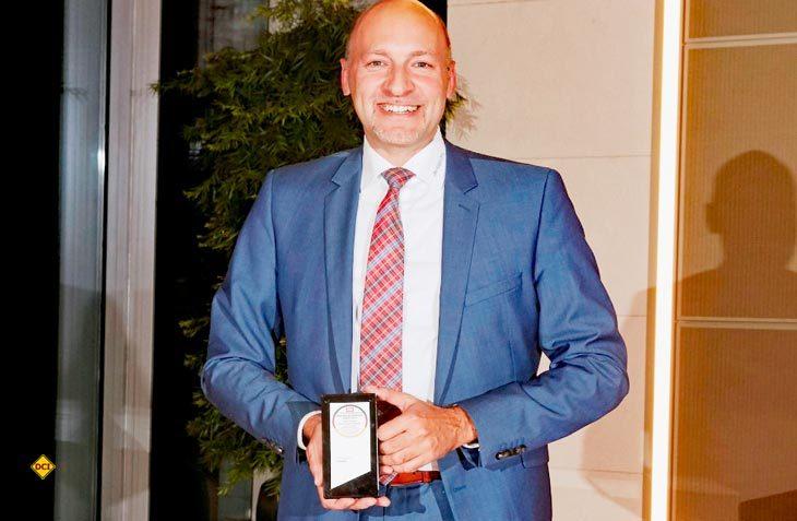 Dethleffs Geschäftsführer Alexander Leopold nahm die Auszeichnung zum Deutschen Fairness-Preis 2017 stellvertretend entgegen. (Foto: Dethleffs)