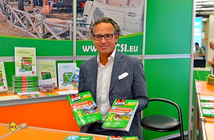 Ramon van Reine ist Direktor von ACSI, einem der größten Camping-Spezialisten in Europa. (Foto: det)