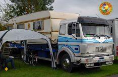 So geht´s auch: Den Weippert Wohnwagen aufgebockt und fertig ist das Reisemobil. (Foto: det)