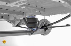 VB-Airsuspension stellt ein neues Zusatzluftfedersystem VB-SemiAir für den VW Crafter und den MAN TGE vor. (Foto: VB)